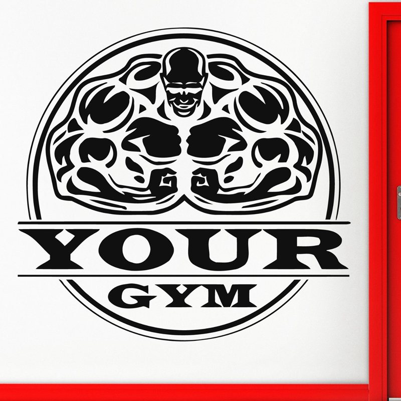 Gym Sticker font b Fitness b font Decal font b Bodybuilding b font Posters Name Muscle