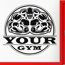 Gym Sticker Fitness Decal Bodybuilding Posters Name Muscle Vinyl Wall Parede Decor 19 Color Choose Gym Sticker