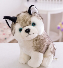Super cute 1pc 18cm cartoon mini husky dog little plush doll stuffed toy children Valentine's Day gift
