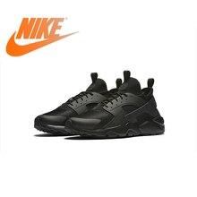 Оригинальная продукция Nike Air Huarache RUN ULTRA Для мужчин дышащие кроссовки классический теннис обувь напольная, удобная прочный