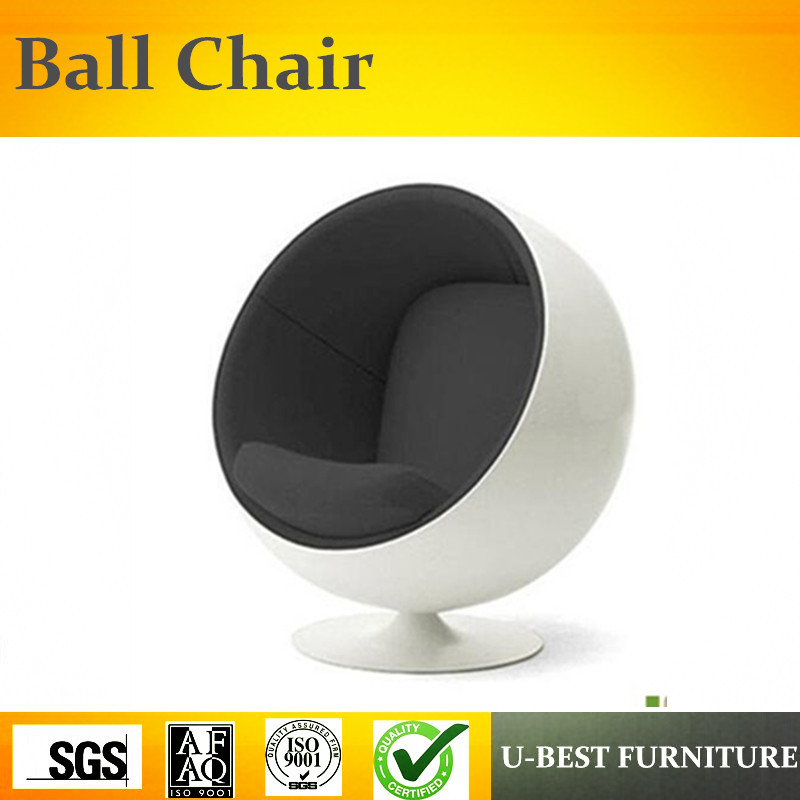 Us 399 0 U Best Modern Office Furniture White Fibergl Shell Hanging Ball Chair Comfortable Living Room Fabric Swiveling In Chaise