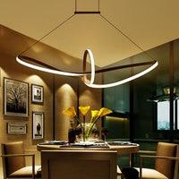 Free Shipping Remote Dimming Modern Led Pendant Light Led Pendant Lamp Aluminium 90 265V Suspension Lamp for Dinning Room