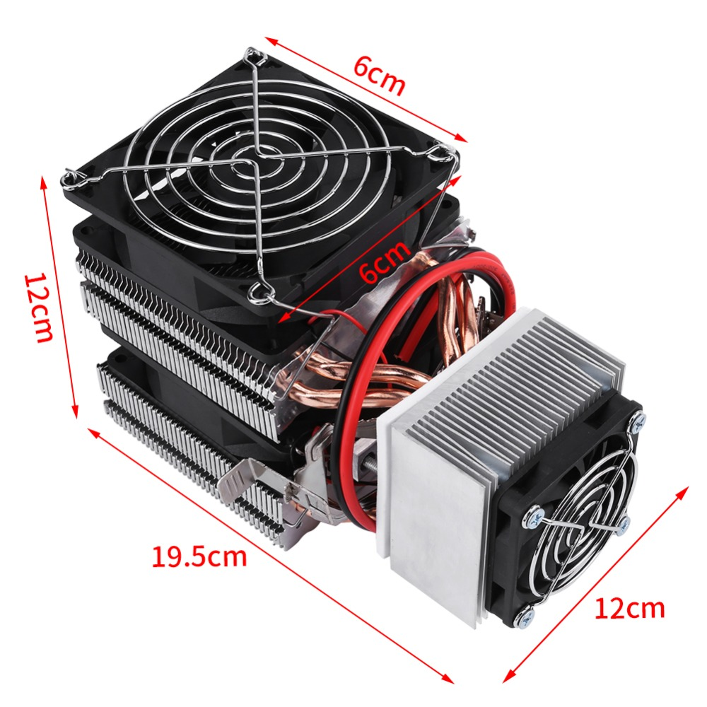 Original DIY Mini Fridge DC 12V Semiconductor Refrigeration Cooling Device Thermoelectric Cooler High Cooling Efficiency c1204 4p1540 15 20 30 40mm 12v 4a 48w 4 layer semiconductor cooler 4 layer semiconductor subzero freezing thermoelectric cooler