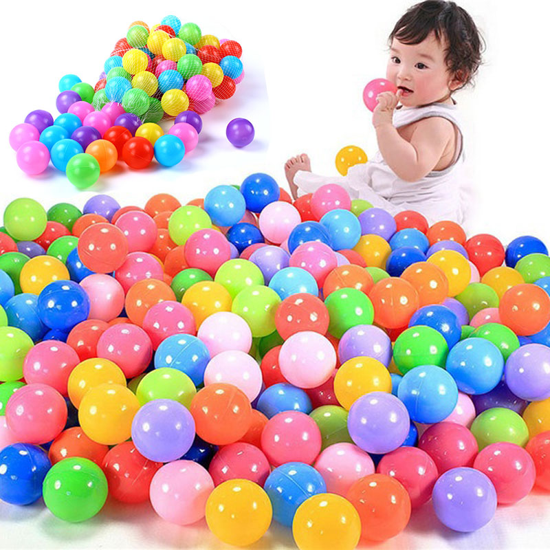 100 Pcs/lot Eco-friendly Colorful Ball Soft Plastic Ocean Ball Funny Baby Kid Swim Pit Toy Water Pool Ocean Wave Ball Dia 5.5cm