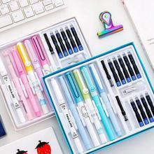 18 шт./компл. студент творческие ручки мультфильм Пластик может изменить чернила перьевая ручка набор различных перо Комбинации