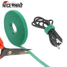 NICEYARD 5 м* 1 см нейлоновые кабельные стяжки силовые Провода петли ленты многофункциональные нейлоновые ремни крепеж многоразовые Волшебные Ленты