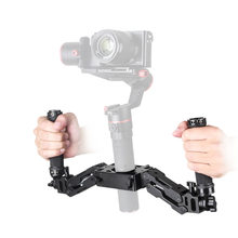 Disesuaikan 5 Axis Dual Handle Grip Spring Handheld Stang Kit untuk Gimbal Zhiyun CRANE 2 Plus Feiyu Moza Air Aircrosses(China)