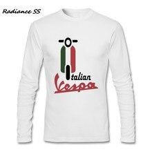 Camiseta hombres Vespa vintage bandera italiana al por mayor camisetas  marca de manga larga Camiseta Hombre a6253be0f786f