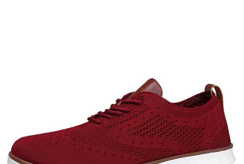 HTB1zFN9XHH1gK0jSZFwq6A7aXXaY Casual Knitted Mesh Men's Shoes Solid Shallow Lace Up Lightweight Soft Men Sneakers Shoes Breathable Man Footwear Flats 39-48
