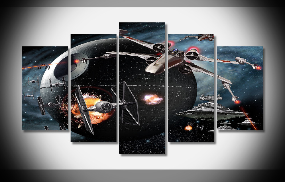6528 death wing tie fighters hd Poster Framed Gallery wrap art print home wall decor  wall picture Already to hang6528 death wing tie fighters hd Poster Framed Gallery wrap art print home wall decor  wall picture Already to hang