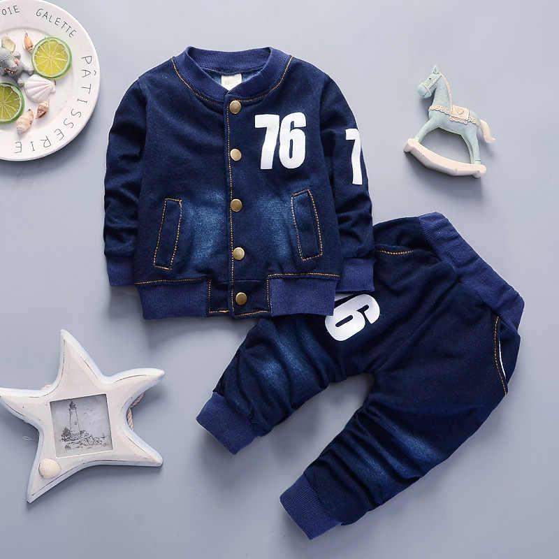 Kinderen Jongens Lente Herfst Kleding Set Kids Baby Casual Denim Kleding 2 Stuks Sport Past Voor Jongens Kind Trainingspak Outfits