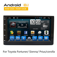 2 Din Android стерео для Toyota Fortuner 2016/Sienna 2015/Prius/corolla 2018 gps Мультимедиа Радио с AUX Bluetooth