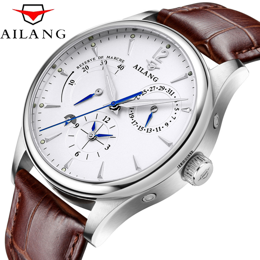 AILANG 2019 New Simple Classic Men Mechanical Watches Business Waterproof Watch Luxury Brand Genuine Leather Automatic Watch MenAILANG 2019 New Simple Classic Men Mechanical Watches Business Waterproof Watch Luxury Brand Genuine Leather Automatic Watch Men