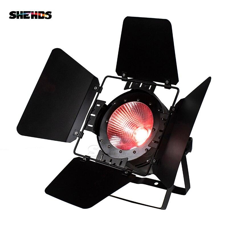 LED Par COB 200 W avec portes de grange éclairage en Aluminium de caisse de puissance élevée avec 200 W COB RGBWA + UV 6in1 blanc froid et blanc chaud