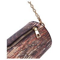 5 pcs of Brown Tree Stump Shaped Chain Bag (Color: Brown Cross section)