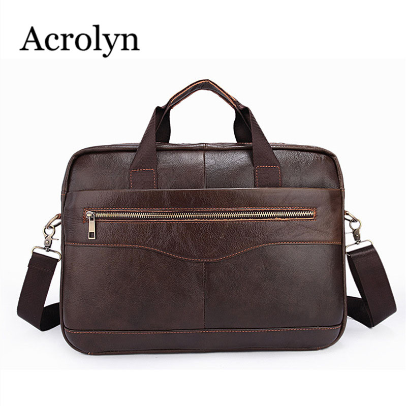 ФОТО Hot Sell Guaranteed Genuine Leather Handbag Mens Shoulder Bag Man Portable Computer Briefcase Ipad Business Bag