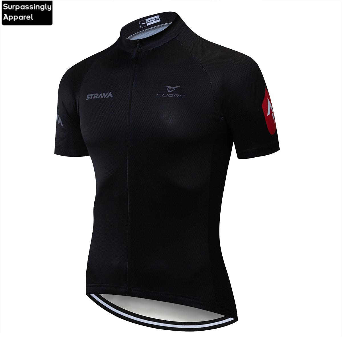 2019 World UCI Tour Team <font><b>Strava</b></font> Cycling Jersey MTB Ropa Ciclismo Mens Black Summer Bicycle Bicycling <font><b>Shirts</b></font> Maillot <font><b>Bike</b></font> Wear image