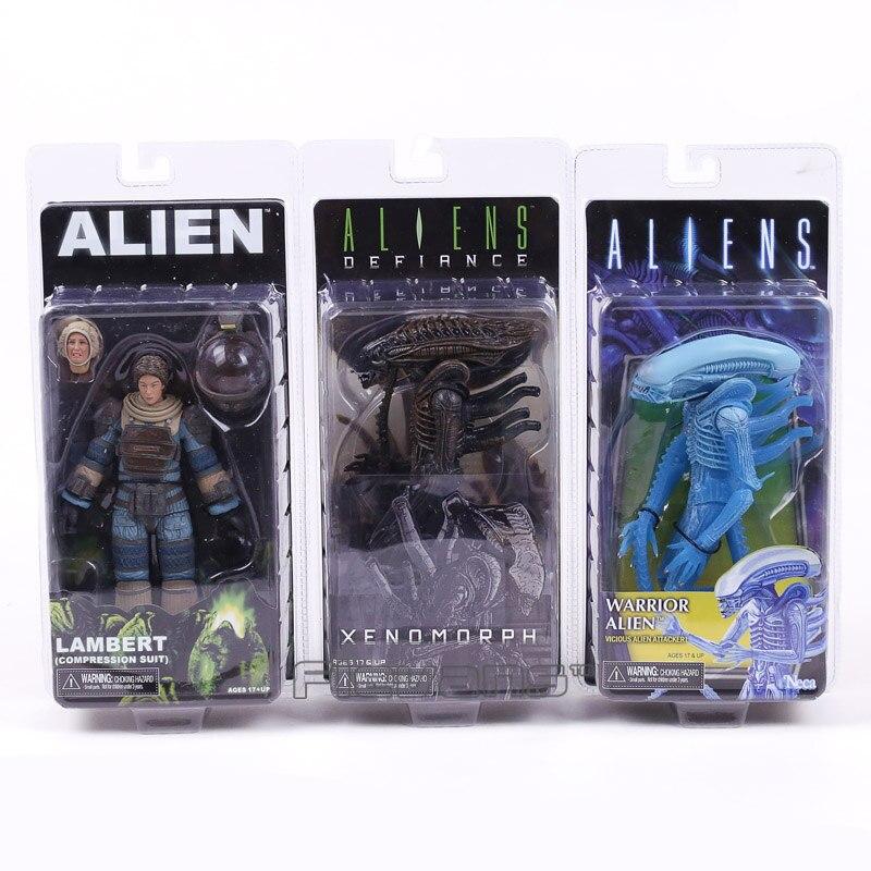 NECA ALIEN Lambert (Compression Suit) / Aliens Defiance Xenomorph / Warrior Alien PVC Action Figure Collectible Model Toy 18cm neca alien 3 dog alien pvc action figure collectible model toy 18cm kt260