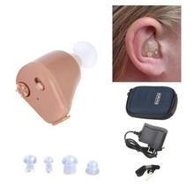 Hearing Aid Mini Amplifier Hearing Aids Rechargeable Ear Tiny Voice Aid EU/USA PLUG Wireless Invisible L3