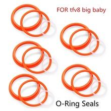 W celu uzyskania O-uszczelki pierścieniowe dla SMOK TFV8 X-dla dzieci vape pen plus vape pen 22 TFV12 książę TFV8 duże dziecko TFV8 Toptank Mini (5 sztuk) tanie tanio yuhetec Pierścień uszczelniający Krzemu