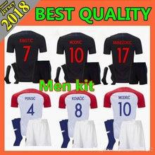 40f93ab73 Hot sale 2018 World Cup Croatiaes Soccer Jerseys MODRIC MANDZUKIC RAKITIC  Home Away kit+socks