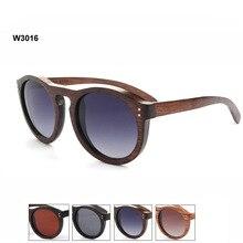 New Arrival Handmade Wooden Retro Round Polarized Sunglasses Hot Sale Free Shipping