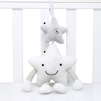 Baby κουδουνίστρα καροτσάκι παιχνίδι μουσικό κινητό μωρό παιχνίδια μάθηση εκπαίδευση αστέρι κινουμένων σχεδίων για βρεφικά καροτσάκια κρεμώντας κρεβατάκι