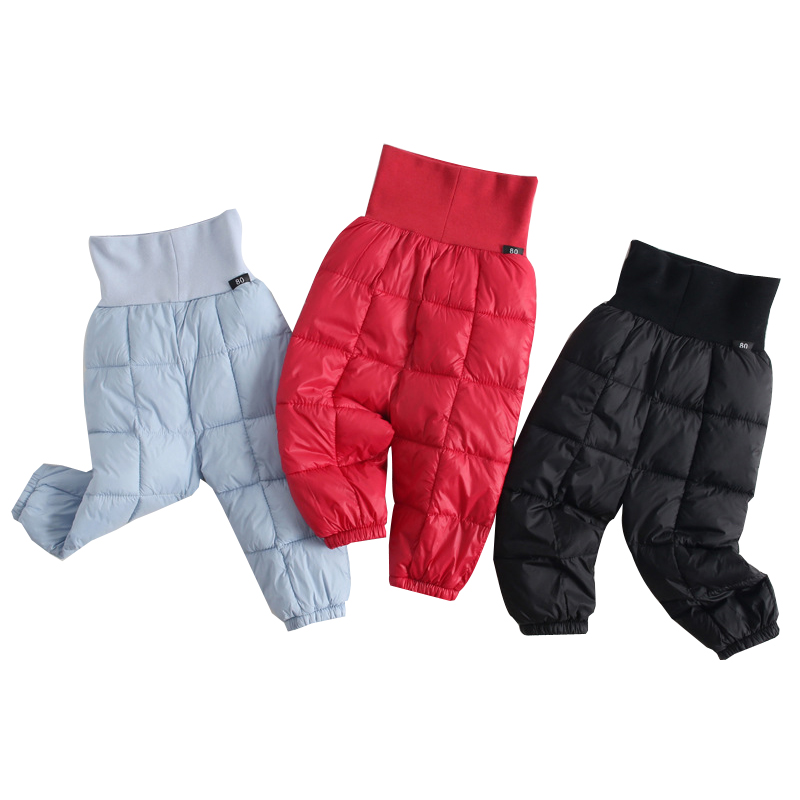 все цены на 2018 Boys Long Pants Children Girls Down Pants Trousers for Girls Winter Thicken Warm Slim Clothes Kids Baby Autumn Clothing