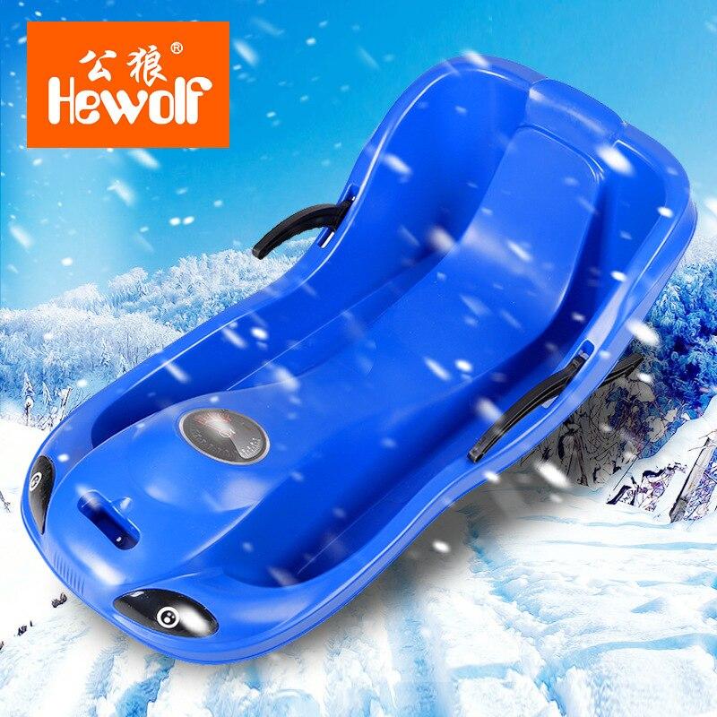 Hewolf Parent-enfant modèles de haut-dos Double planche de sable planche glissante neige charrue placage pour augmenter épaississement Snowboard