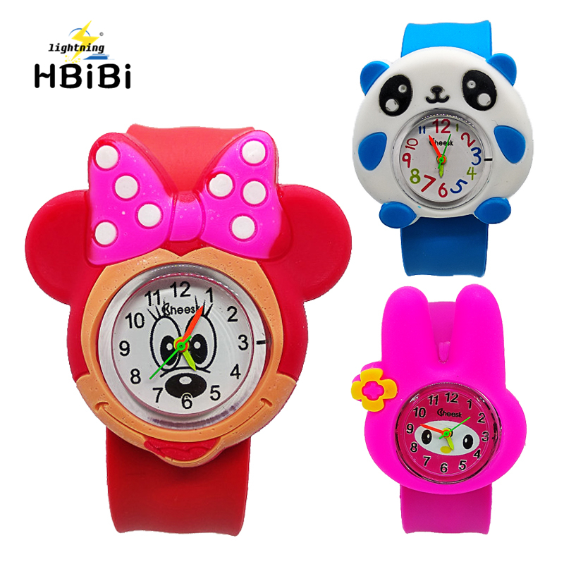 New Style ! Children Cartoon Quartz Watch 4 Kinds Of Animal For Kids Boys Girls Clock Christmas Gift Toys Digital Wrist Watches