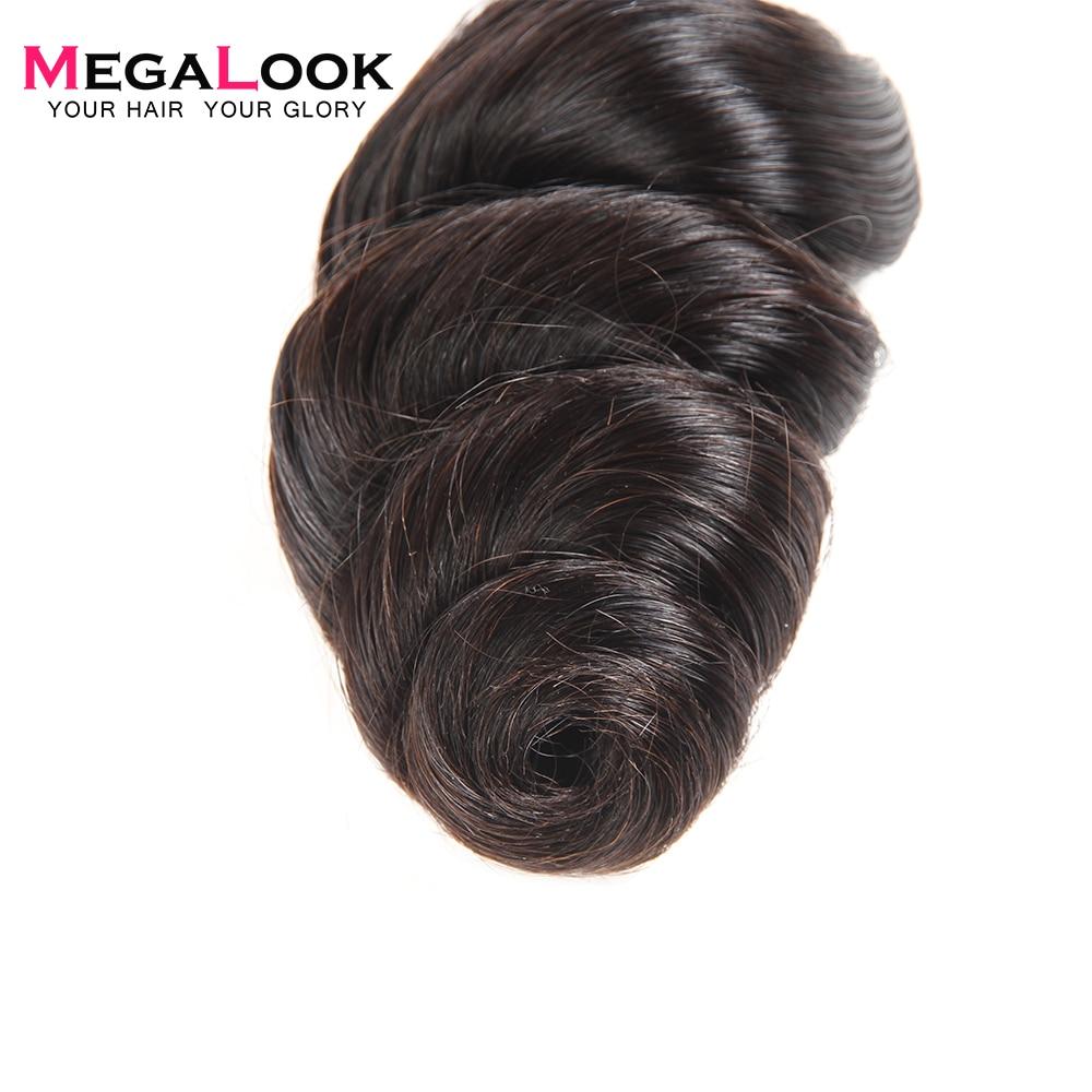 Megalook หลวม Wave มนุษย์ผมรวมกลุ่ม 3 pcs 8 36 นิ้วบาท 100% Remy Hair Extension ธรรมชาติสี-ใน ช่อผมผสม จาก การต่อผมและวิกผม บน AliExpress - 11.11_สิบเอ็ด สิบเอ็ดวันคนโสด 1