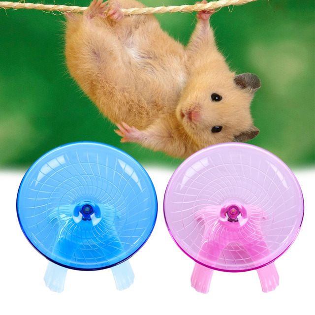 7.09'' Silence Quite Hamster toys Flying Saucer Exercise Wheel Toys small pet squirrel Guinea pig Chinchilla running accessories