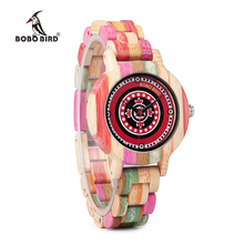 WP08 Colorful Bamboo Wood Watch
