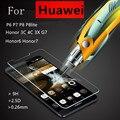 Закаленное Стекло Фильм Взрывозащищенный Экран Протектор Для Huawei P6 P7 P8 lite Honor 6 7 3C 4C 3X Ascend G7 + Набор Для Чистки