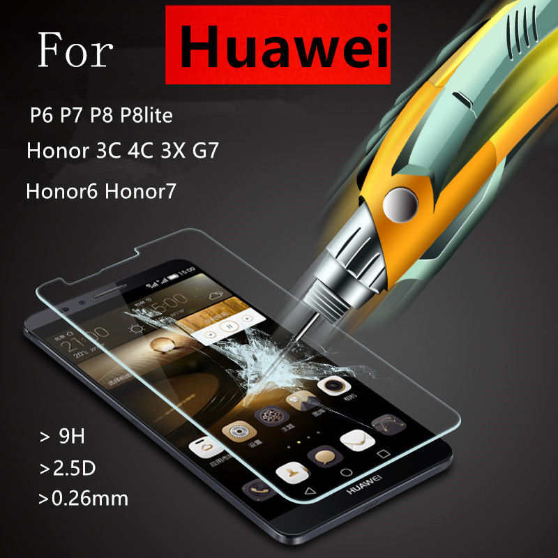 OYASEN Tempered Glass Film Explosion Proof Screen Protector For Huawei P6 P7 P8 Lite P9 Lite Plus Honor 6 7 3C 4C 3X Ascend G7