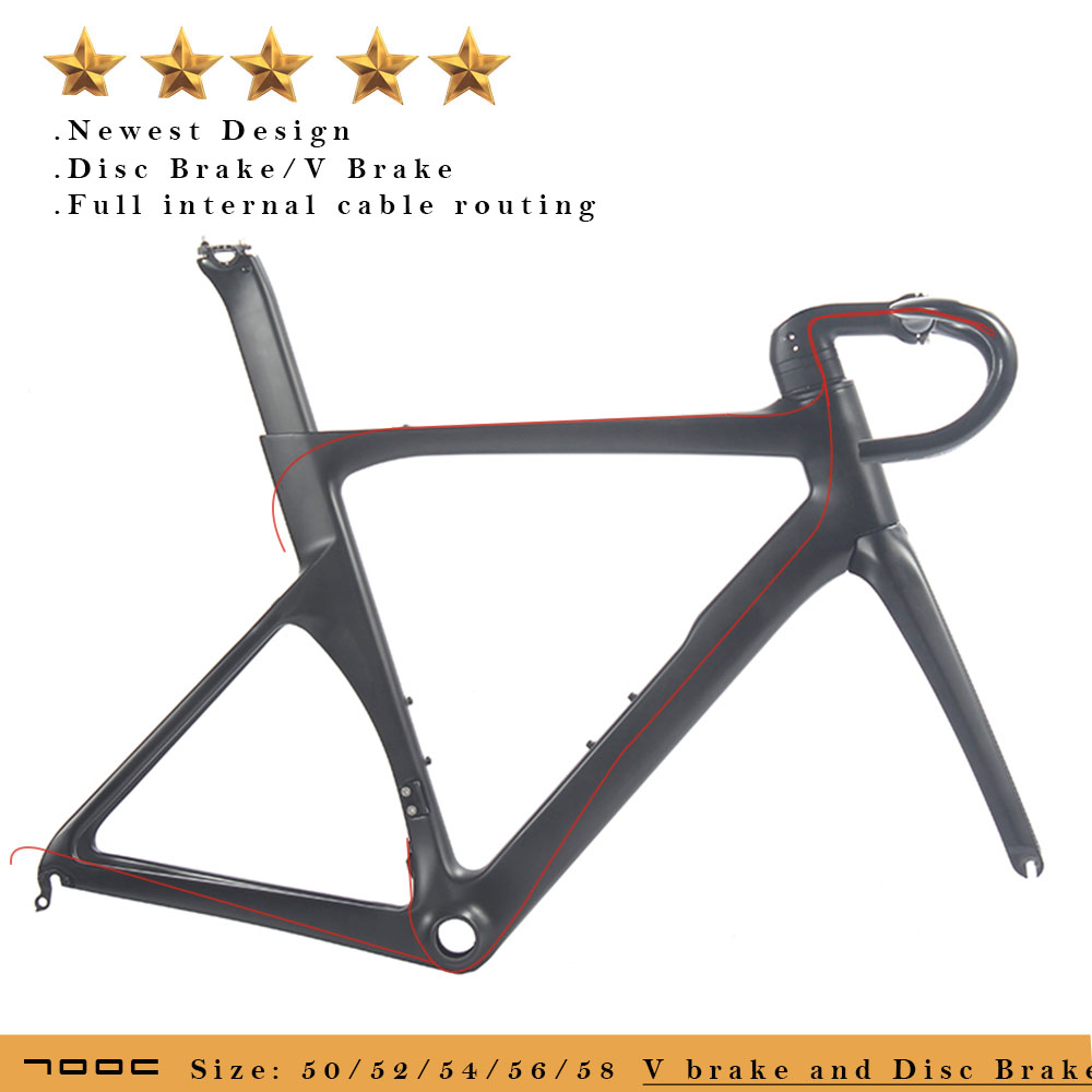 купить 700C Disc Brake Thru Axle Carbon Road Bike Frame Aero Road Bicycle Carbon Frames по цене 43178.41 рублей