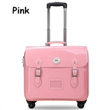 Drag boxes vintage travel bag trolley luggage PU pull box female wear-resistant luggage password box,student travel luggage box
