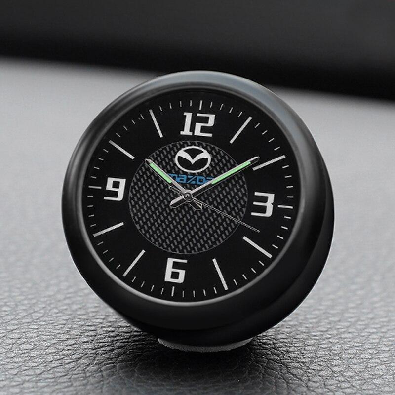 Horloge de voiture décoration montre à quartz style numérique électronique horloge montre accessoires pour Mazda Angkorra CX-5 Artez
