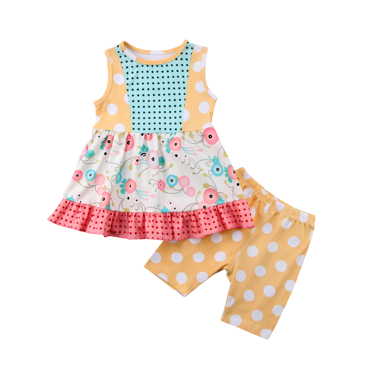 kids baby girls sister matching dress flower romper