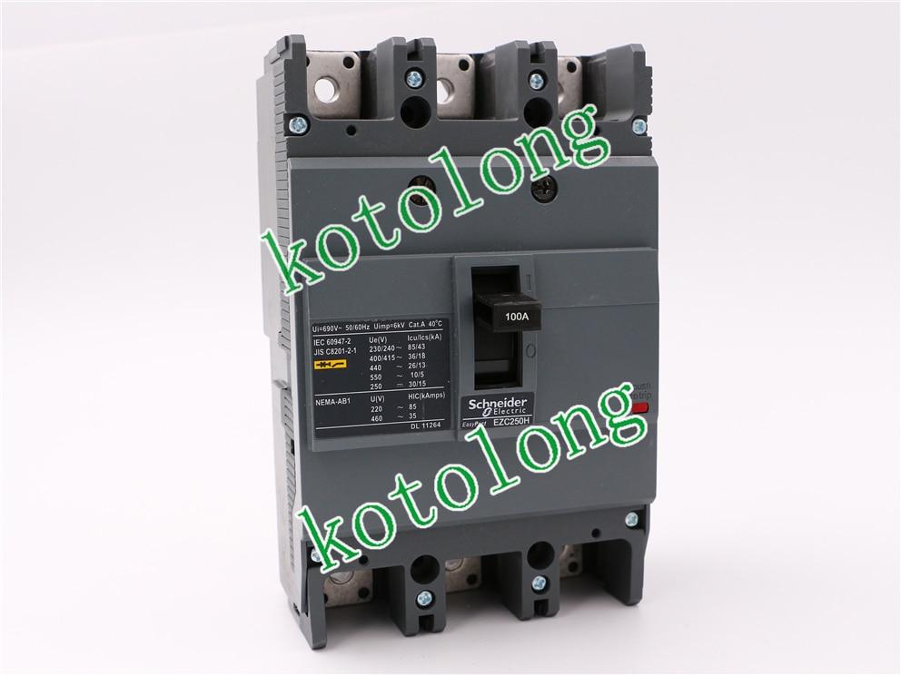 EZC250H 3P MCCB EZC250H3100 3P-100A  EZC250H3125 3P-125A EZC250H3150 3P-150A EZC250H3160 3P-160A compact nsx160b tmd 3p lv430310 3p 160a lv430311 3p 125a lv430312 3p 100a lv430313 3p 80a