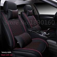 (Delantero y Trasero) especial fundas de asiento de coche de Cuero Para Mitsubishi ASX Outlander Lancer FORTIS DEPORTE EX Zinger auto accesorios