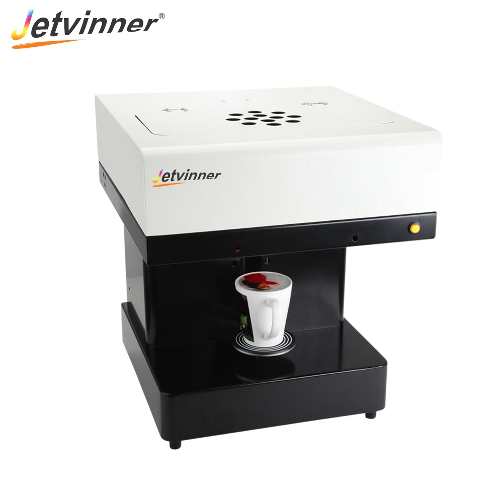 Jetvinner One cup Coffee Printer Inkjet Print Machine with Edible Ink for Latte Cake Macarons Beer
