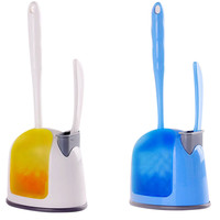 Compact Toilet Bowl Brush Small Sink With Holder Brush Set Bush Caddy Set Anti Microbial Protection