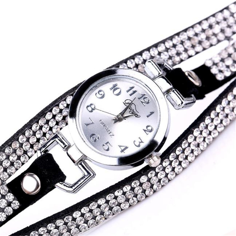 High Quality women fashion casual watch luxury dress ladies Leather Band Analog Quartz Wrist Watch clock Montre femme O10 (6)