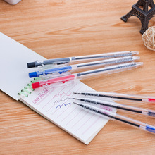 6pcs Korea Portable Notepad Pen Press Ballpoint Pen 0.7mm Spring Ball Pen  Office Stationery Learning Tools Supplies