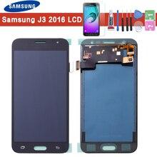 Dla Samsung J3 2016 LCD J320F J320FN J320M wyświetlacz LCD ekran dotykowy Digitizer rama przycisk Home J320F LCD dla Galaxy J3 wyświetlacz