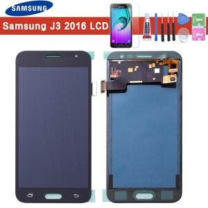 Image 1 - Für Samsung J3 2016 LCD J320F J320FN J320M LCD Display Touchscreen Digitizer Frame Home Taste J320F LCD Für Galaxy j3 Display