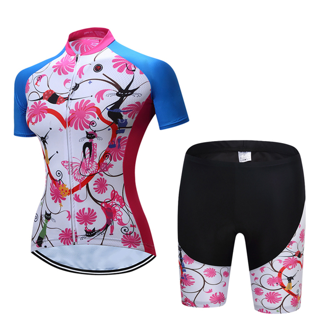 2019 Verão Mulheres MTB Bicicleta Roupas de Ciclismo Mountian Bicicleta Roupa Ropa ciclismo Quick-Seco Respirável Ciclismo Jersey Conjuntos 4
