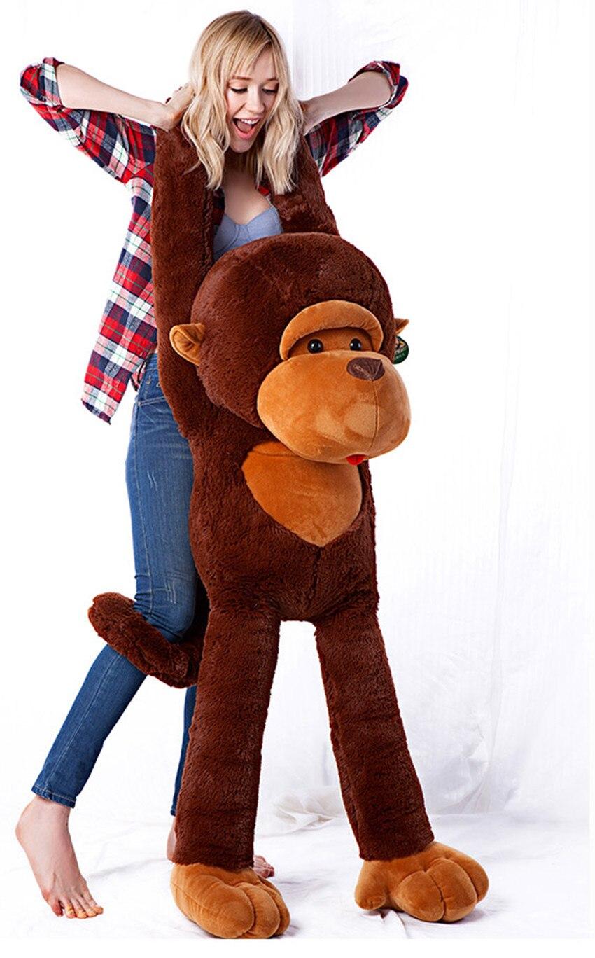 La peluche belle singe animal en peluche jouets grand bras long singe jouet poupée grand oreiller cadeau d'anniversaire environ 130 cm