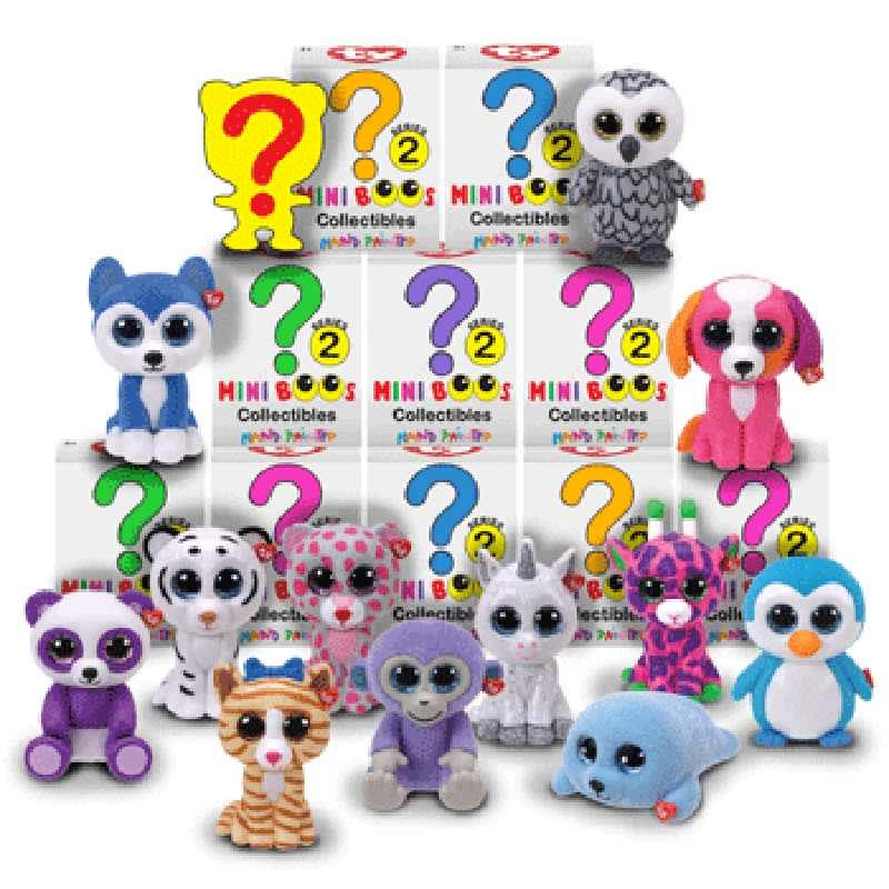 902364fc073 Detail Feedback Questions about Ty Beanie Boos 1pcs Random Mini Boos blind  Box Collectible Toys Hand Painted With Checklist Dog Penguin Unicorn  Giraffe ...